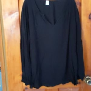 Old Navy v neck long sleeve tunic blouse